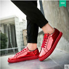 New Men's Casual Leather Flats Shoes Running Sports Korean Breathable shoes