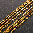"U7 Basic Chain Necklace Thin Wheat/Rolo/Box/Bead Chain for Men Women 22"" 3MM"