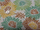 Heather Bailey Fresh Cut Graphic Mums Brown By the yard cotton fabric