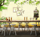 3D birdcage Frame Wall Paper Print Decal Wall Deco Indoor wall Mural