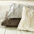 Pintuck 2 Pillow Shams (1 Pair) Egyptian Cotton Sateen Choose Color and Size