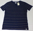 NWT Lucky Brand S/S Blue w/Yellow Stripes Button Top Shirt    M,L    L1946