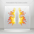 Decal Stickers Pair Of Natural Flames Car Motorbike Bike vinyl bike mtv ZE686