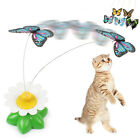 Cat Pet Kitten Electric Rotating Butterfly  Rod Cat Teaser Play funny Toys
