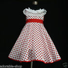 Kid Reds White Christmas Wedding Party Flower Girls Dresses SIZE 2,3,4,6,7,8,10Y
