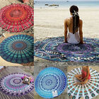 Vintage Bohemian Mandala Round Beach Tapestry Hippie Throw Yoga Mat Towel Indian