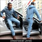 Brooklyn Mint One Piece Denim Jumpsuit Overall Jeans Dungarees Onesie Suit Mens