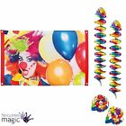 Clown Circus Birthday Kids Party Partyware Rainbow Balloons Hanging Decorations