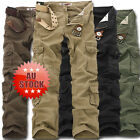 Solid Military Army Fatigue  Tactical Combat Cargo Pants Trousers Casual mny
