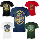Harry Potter Official Licensed  Mens Hogwarts Crest House Graphic Print T Shirts