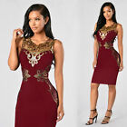 Women Lady Summer Casual Sleeveless Lace Evening Party Cocktail Short Mini Dress