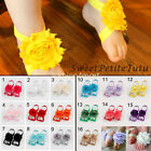 Baby Girls Flower Blooms Barefoot Sandals Shose Cute Chiffon Feet Band Wholesale