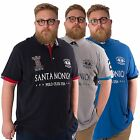 Santa Monica Polo Club Mens King Size Polo Shirt Plus Size Cotton Top 2XL -5XL