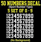 0-9 Numbers Vinyl Sticker Decal Sheet , 50 Total Numbers, Sp