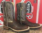 """Men's Exotic Justin 11"""" Full Quill Ostrich Square Toe Boots"""
