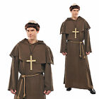 Holy Medieval Friar Monk Mens Religious Costume New Adults Complete Fancy Dress