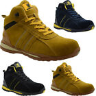 MENS WOMENS LIGHT WEIGHT LACE UP SAFETY STEEL TOE CAP TRAINER BOOTS SHOES 3-14