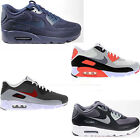 ORIGINAL NIKE AIR MAX 90 ULTRA ESSENTIAL BREATHE BLACK WHITE NAVY RED TRAINERS