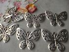 6 x BUTTERFLY Large Silver Tibetan Charms, Statement Pendant, Jewellery Making