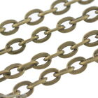 Wholesale Lots HX Bronze Tone Flat Link-Opened Chains 3x2mm