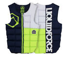 2017 Liquid Force Flex Watersports Wakeboard Impact Vest Small Blue Lime 51100