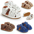 New Summer Baby Kids Newborn Sandals Breathable Boys Anti-skid PU Leather Shoes