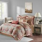 Chic Red & Gold Damask  Comforter Set w/Euro Shams with D...