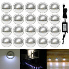 10/20Pcs Cool White 35mm 12V Half Moon Outdoor Yard LED Deck Step Stair Lights