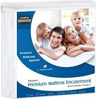 Premium Mattress Zippered Encasement Bug Proof Waterproof Cover Utopia Bedding image