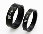 Stainless Steel Promise Love Black ring with love angle Love Couple Rings gift