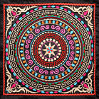 FINISHED CHINA VINTAGE QUILT FABRIC EMBROIDERY PATCH PAINTING : MANDALA OF STAR