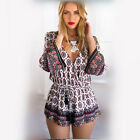 Ladies Fashion Colorfulsuits Summer Beach Floral Print Boho Playsuit New
