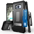 Tri Shield Armor Hybrid Hard Case Belt Clip Holster For Samsung Galaxy S8 Plus