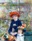 Two Sisters on the Terrace Painting by Pierre-Auguste Renoir Art Reproduction