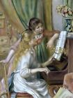 Young Girls at the Piano Painting by Pierre-Auguste Renoir Art Reproduction
