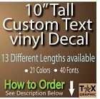 """10"""" TALL CUSTOM Vinyl Lettering Decal  Personalized Sticker"""