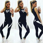 New Womens Ladies 2Pcs Tight Tracksuit Sweatshirt Pants Sets Sport Wear Yoga Set
