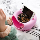 Double Layer Snacks Containers Dry Candy Garbage Holder with Cellphone Holder
