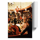 Poster Print Wall Art James Tissot The Circus Lover Portrait Painting Home Décor