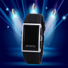 HOT! Mens Luxury Date Digital Sport Led Watch Rubber Wrist Red Black White Gift
