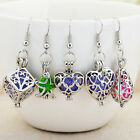 GIFT 1Pair Earring Hollow Out With Aromatherapy Pendant Fashion Jewelry M24259