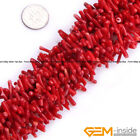 """Red Coral Gemstone Irregular Branch Stick Beads For Jewelry Making Strand 15"""""""