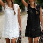 Women's Plus Size Lace Sleeveless Party Evening Cocktail Beach Casual Mini Dress