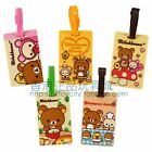 GENUINE RILAKKUMA 3D SILICONE RETRO SUITCASE TRAVEL LABEL LUGGAGE NAME TAG