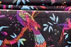 5 Yard Hand Bird Print Handmade Cotton Indian Natural Sanganeri Print Fabric.