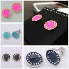 HOT MARC BY MARC JACOBS 14 COLORS CLASSIC LETTERS DISC STUD EARRINGS #E001X image