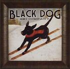 BLACK DOG SKI CO by Ryan Fowler 15x15 FRAMED PRINT Lab Skiing Ad Sign PICTURE