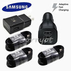 Lot OEM Samsung Galaxy S8 plus Car Charger Dual USB Adapter Type C Cable Black