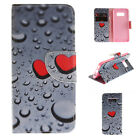 Painted Pattern PU Leather Card Wallet Flip Case Cover For Samsung Galaxy Phone