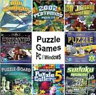 Puzzle Games Assortment PC Windows XP Vista 7 8 10 Sealed New